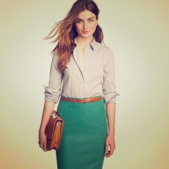J. Crew Dresses & Skirts - Jcrew Pencil skirt in double-serge wool